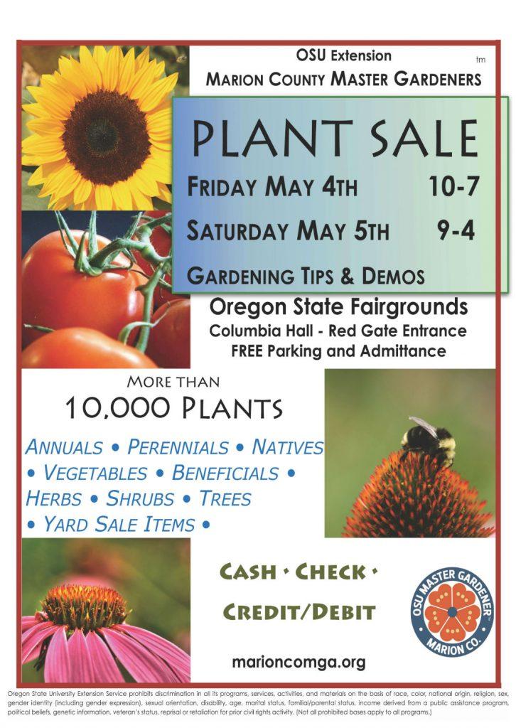 MCMGA Plant Sale and Plant Clinic @ Oregon State Fairgrounds, Columbia Hall | Salem | Oregon | United States