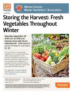 Storing the Harvest: Fresh Vegetables Throughout Winter @ Unitarian Universalist Congregation | Salem | Oregon | United States