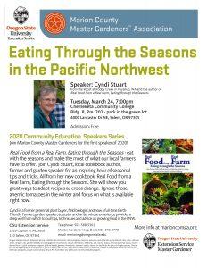 Eating through the Seasons in the Pacific Northwest - Cyndi Stuart @ Chemeketa Community College, Bldg 8, Rm 201